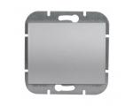 Wyłącznik klawiszowy instalacyjny p/t 10A, 250V, schodowy, podświetlany WP-5N/S srebrny