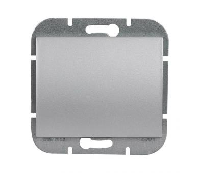 Wyłącznik klawiszowy zwierny p/t 10A, 250V światło, dzwonek (uniwersalny) WP-6/7N srebrny