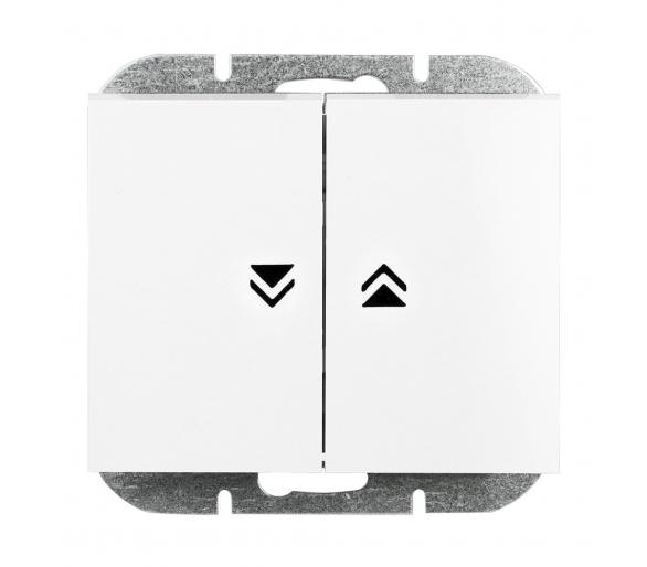 Wyłącznik żaluzjowy, zwierny p/t 10A, 250V WP-10N biały