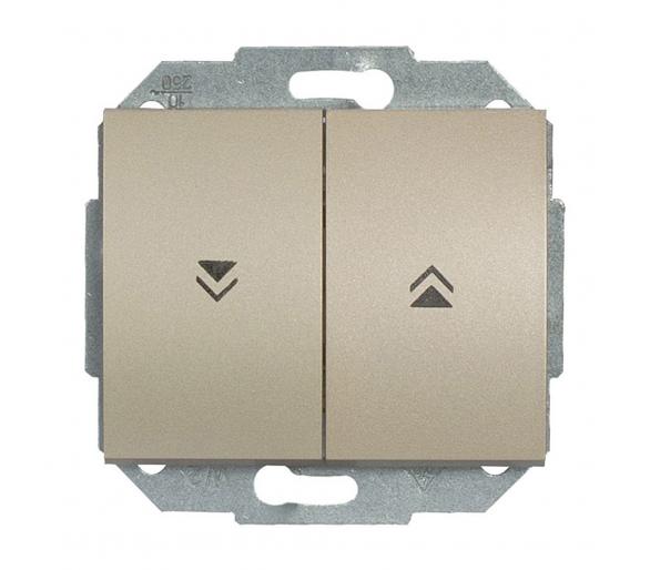 Wyłącznik żaluzjowy, zwierny p/t 10A, 250V WP-10N satynowy