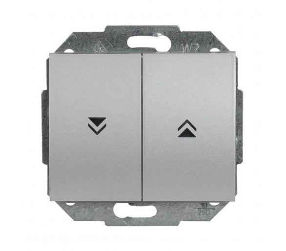Wyłącznik żaluzjowy, zwierny p/t 10A, 250V WP-10N srebrny