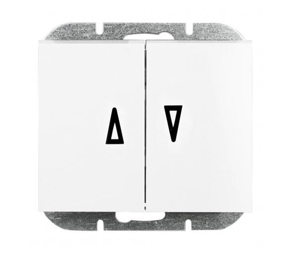 Wyłącznik żaluzjowy, p/t 10A, 250V WP-11N biały
