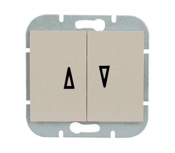 Wyłącznik żaluzjowy, p/t 10A, 250V WP-11N beżowy