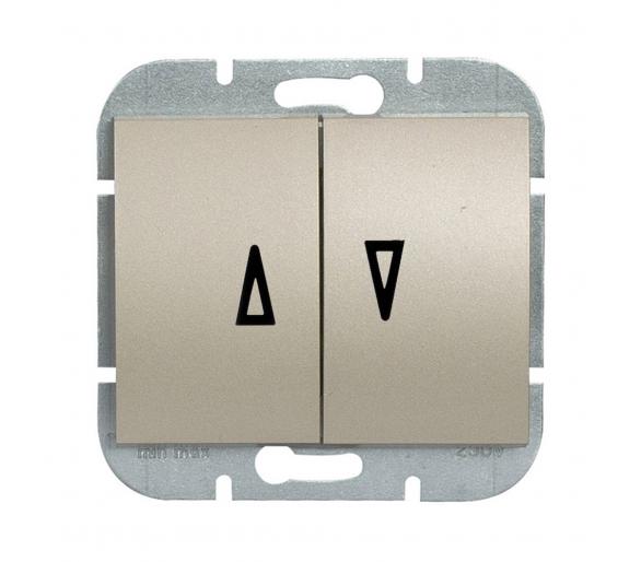 Wyłącznik żaluzjowy, p/t 10A, 250V WP-11N satynowy