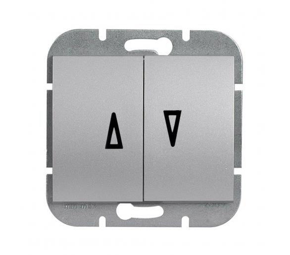 Wyłącznik żaluzjowy, p/t 10A, 250V WP-11N srebrny