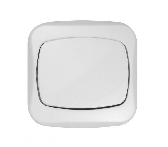 Łącznik p/t 10A, 250V, zwierny światło/dzwonek WP-6/7A biały