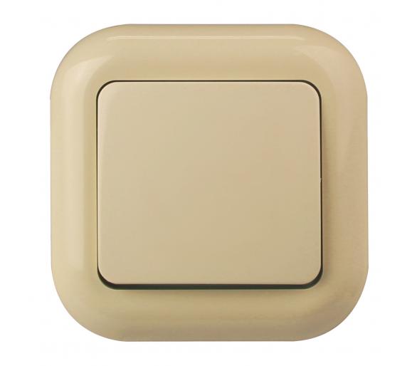 Wyłącznik klawiszowy instalacyjny p/t 10A, 250V, 1-biegunowy WP-1F beżowy