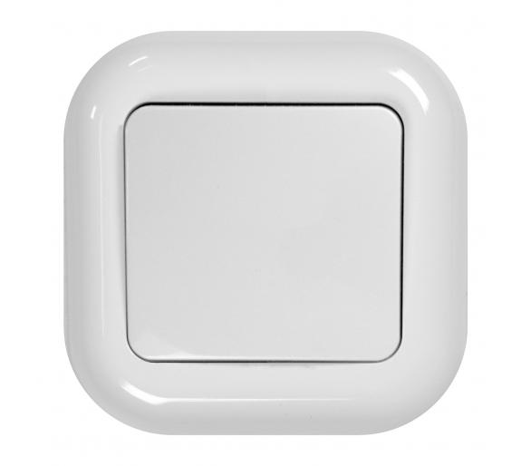 Wyłącznik p/t 10A, 250V,zwierny światło/dzwonek podświetlany WP-6/7F/S biały