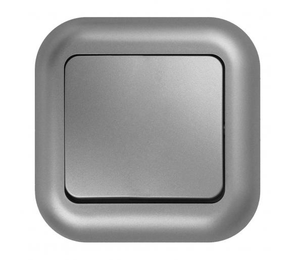 Wyłącznik p/t 10A, 250V,zwierny światło/dzwonek podświetlany WP-6/7F/S srebrny