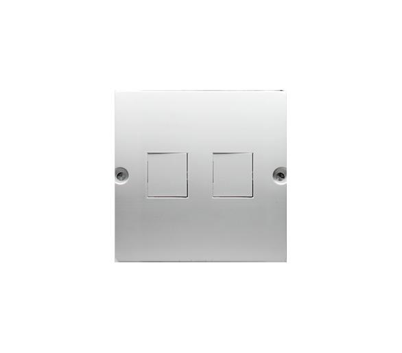 Pokrywa gniazd teleinformatycznych na Keystone płaska podwójna biały BMGK1P/11