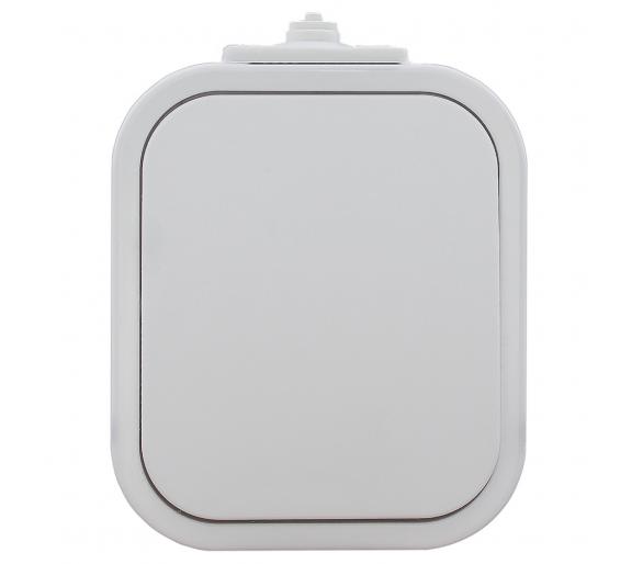 Wyłącznik zwierny światło/dzwonek podświetlany n/t, IP54 WNT-6/7B2/S biały