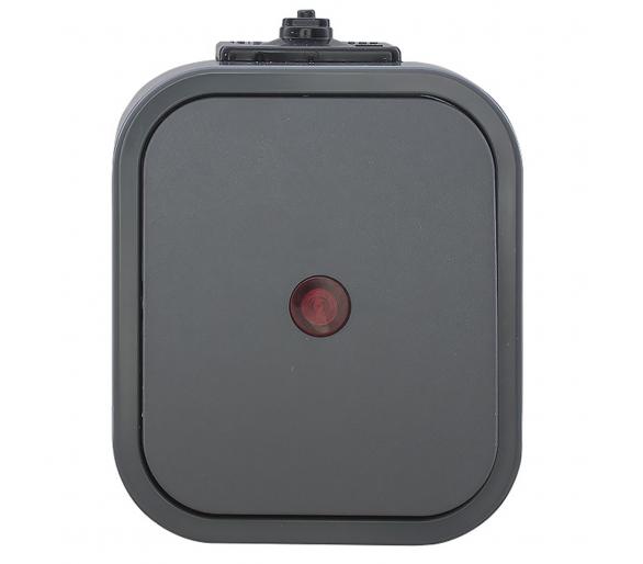 Wyłącznik schodowy z podświetlany n/t, IP54 WNT-5B2/S szary