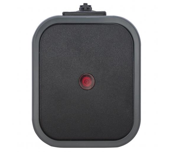 Wyłącznik schodowy z podświetlany n/t, IP54 WNT-5B2/S szaro-czarny