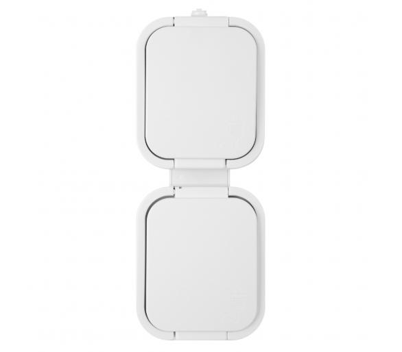 Zestaw pionowy: gniazdo pojedyncze 2x2P+Z NT-6B2/P biały