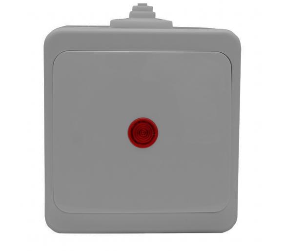 Wyłącznik zwierny światło/dzwonek podświetlany n/t WNT-6/7/S/S szary