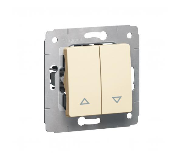 Przycisk sterowania roletami (blokada elektryczna) KREM 10A-250V~ CARIVA 773714