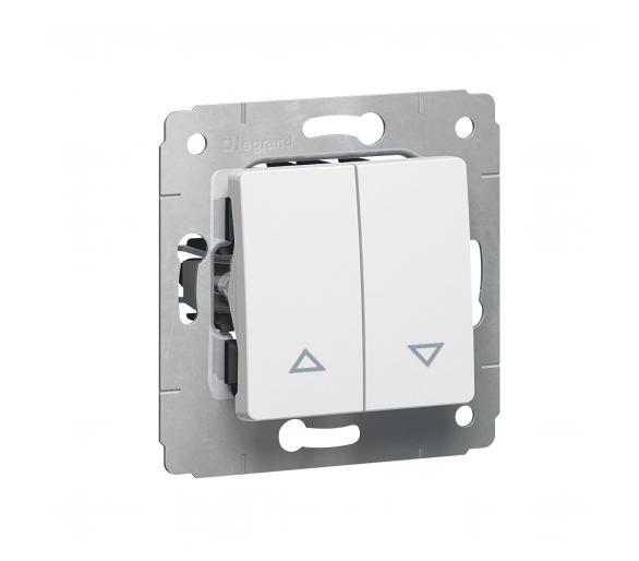 Przycisk sterowania roletami (blokada elektryczna) BIAŁY 10A-250V~ CARIVA 773614