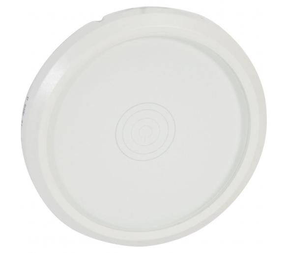 Plakietka łącznika dotykowego Szkło Kaolin (biała obręcz) CELIANE 068041