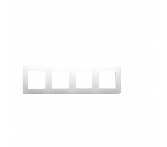 Ramka Poczwórna - Biała - Niloe 665004