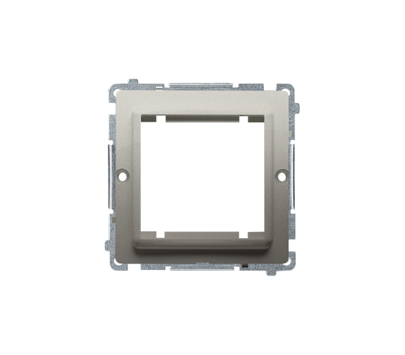 Adapter przejściówka na osprzęt standardu 45×45 mm satynowy, metalizowany