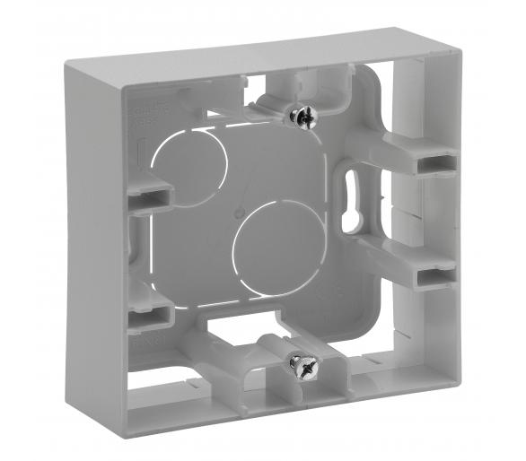 Puszka natynkowa pojedyncza - Aluminium - Niloe Step 863397