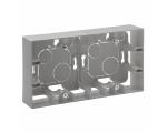 Puszka natynkowa podwójna - Aluminium - Niloe Step 863398