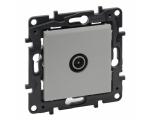 Gniazdo TV męskie przelotowe 14 dB - Aluminium -  Niloe Step 863372