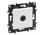 Gniazdo TV męskie końcowe do instalacji przelotowej 10 dB - Białe -  Niloe Step 863173