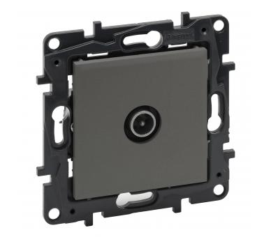 Gniazdo TV męskie końcowe do instalacji przelotowej 10 dB - Stalowe -  Niloe Step 863473