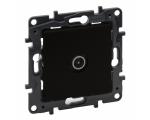 Gniazdo TV męskie końcowe do instalacji przelotowej 10 dB - Czarne -  Niloe Step 863573