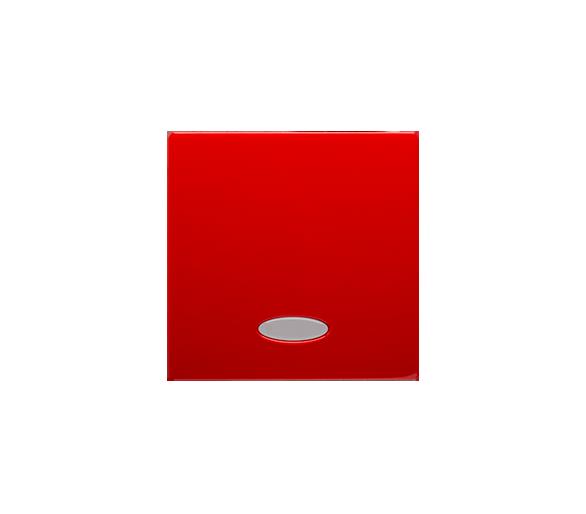 Klawisz pojedynczy z oczkiem do łączników i przycisków podświetlanych czerwony