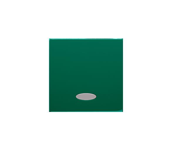 Klawisz pojedynczy z oczkiem do łączników i przycisków podświetlanych zielony
