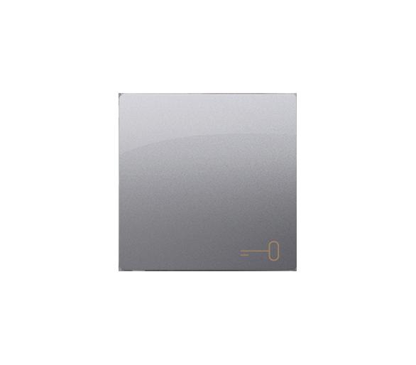 Klawisz pojedynczy do łączników i przycisków inox, metalizowany
