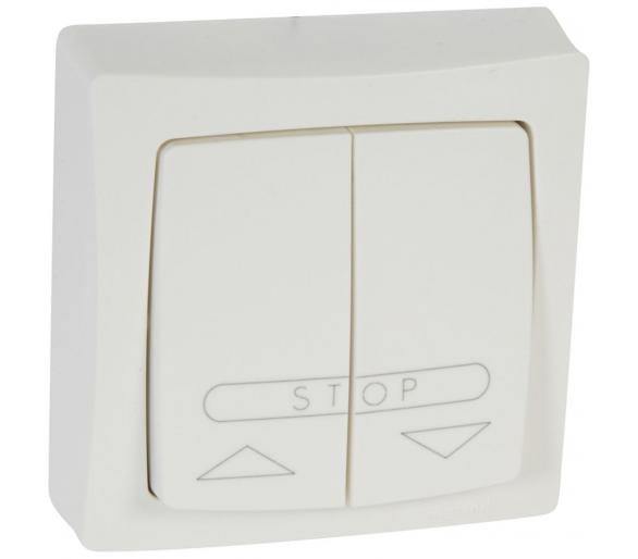 Przycisk sterowania roletami (blokada elektryczna) BIAŁY komplet 6A-250V~ OTEO 086010