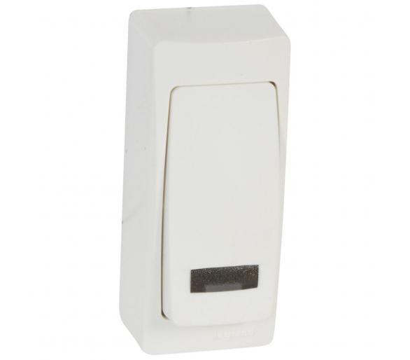 Przycisk jednobiegunowy MINI z podświetleniem 6A-250V~ OTEO 086088
