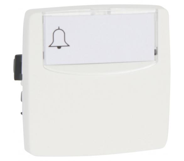 Przycisk jednobiegunowy z etykietą BIAŁY 6A-250V~ OTEO 086109