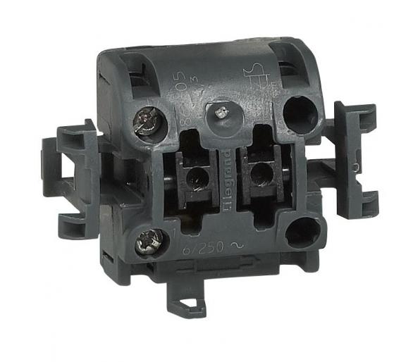 Przycisk jednobiegunowy z podświetleniem BIAŁY 6A-250V~ OTEO 086105