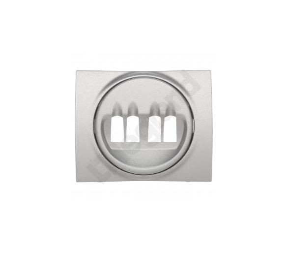 Plakietka do gniazda głośnikowego podwójnego METALIC SISTENA LIFE 771325
