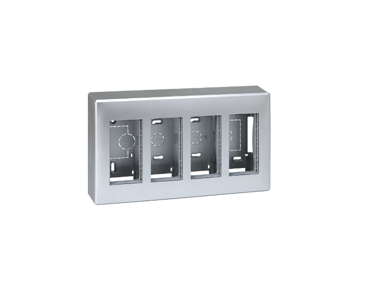 Obudowa natynkowa SIMON 500 4×S500 8×K45 aluminium 51000004-033