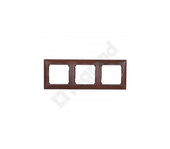 Ramka potrójna MAHOŃ VALENA 770313