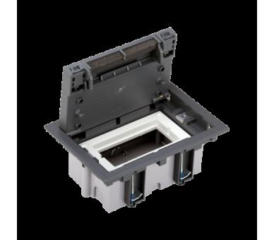 Puszka podłogowa SF prostokątna 2×K45 1×CIMA 70mm÷105mm szary