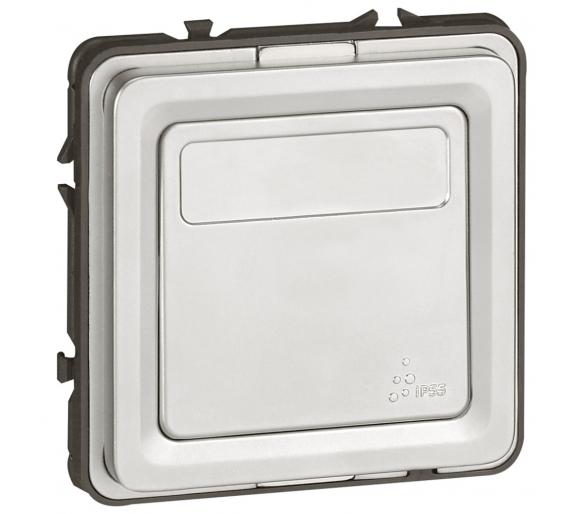 Przycisk przełączny NO/NC z uchwytem etykiety Soliroc IP55 IK10 077843