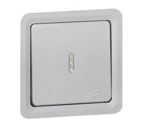 Przycisk jednobiegunowy ze wskaźnikiem Soliroc IP55 IK10 077844