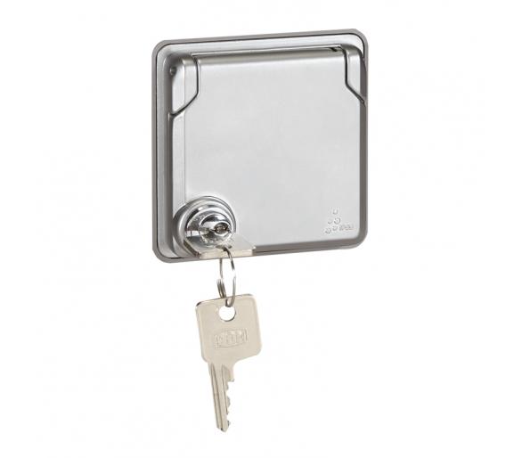 Gniazdo 2P+Z z klapką zamykana na klucz 16A - 250V~ Soliroc IP55 IK10 077833