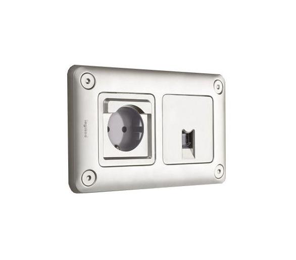 Gniazdo 2P+Z Green'UP z klapką zamykana na klucz Soliroc IP55 IK10 077836