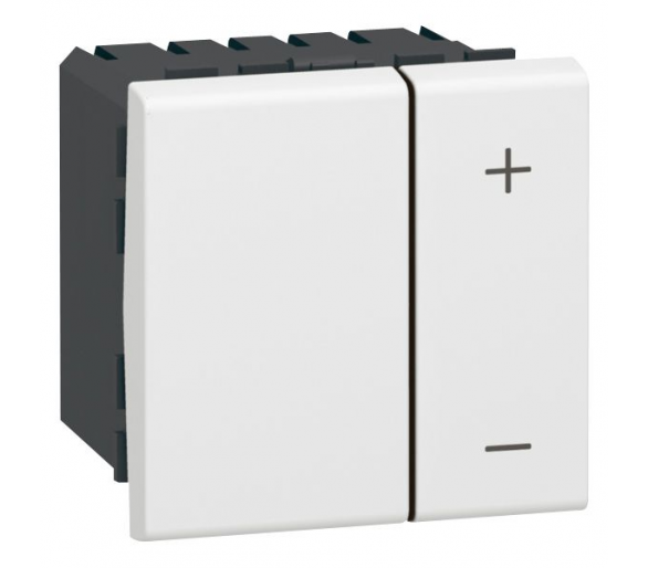 Ściemniacz przyciskowy 40 - 600 W 2 przewodowy - Biały MOSAIC 078405