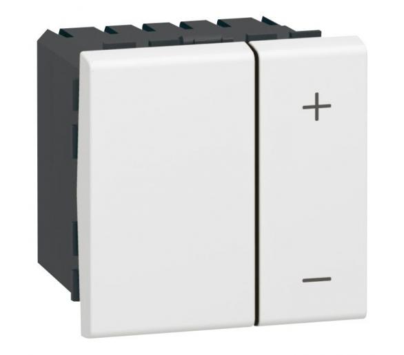 Ściemniacz uniwersalny przyciskowy 3 - 400 W, 2 przewodowy - Biały MOSAIC 078407