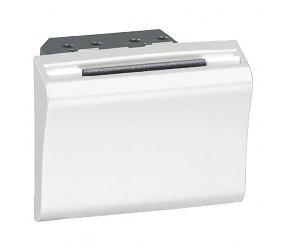 Łącznik hotelowy automatyczny na kartę formatu ISO - Biały MOSAIC 078445