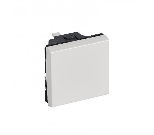 Przycisk jednobiegunowy 6 A - 250 V~ - 2 modułowy - Biały antybakteryjny MOSAIC 078715