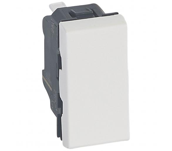 Łącznik schodowy 10 AX - 250 V~ - 1 modułowy - Biały antybakteryjny MOSAIC 078710